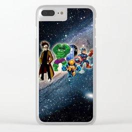 Tardis Super Hero Clear iPhone Case