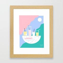 Horchata & Limón Framed Art Print