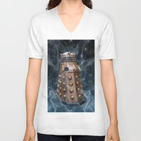 dalek V-neck T-shirts featuring Dalek by Steve Purnell