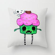 Zombie Cuppy Wants Your Brainz Throw Pillow
