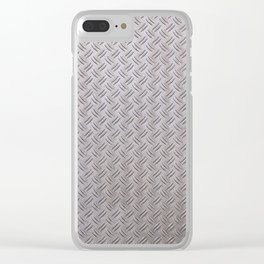 Metal Industrial Pattern Clear iPhone Case