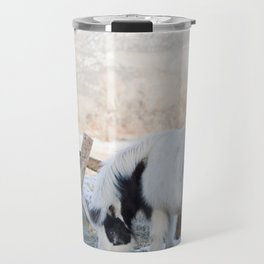 mini horses and a view Travel Mug