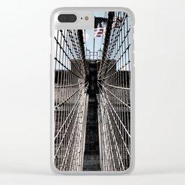 Iron Strung - Brooklyn Bridge Clear iPhone Case