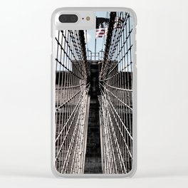Iron Strung - Brooklyn Bridge Clear iPhone Case