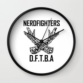 The Nerdfighter symbol Wall Clock