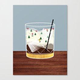 Cocktail Landscape White Russian Canvas Print