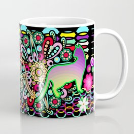 Mandalas, Cats & Flowers Fantasy Pattern Coffee Mug
