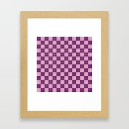 ARGYLE, PURPLE & LAVENDER Framed Art Print