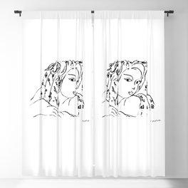 Henri Matisse Tete de Femme (Head Of A Woman) Artwork For Prints, Tshirts, Posters, Men, Women, Kids Blackout Curtain