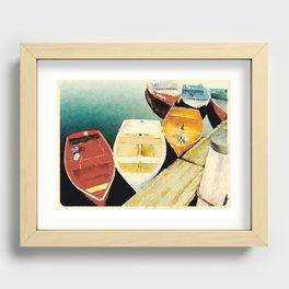 Rockport, Massachusetts Dories Recessed Framed Print