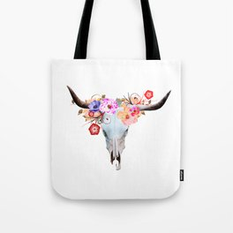 Longhorn Bouquet Tote Bag