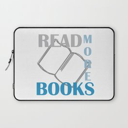 READ MORE BOOKS in blue Laptop Sleeve