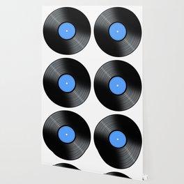 Music Record Blue Wallpaper