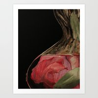 Flowers Drowning series - Pink lily Art Print