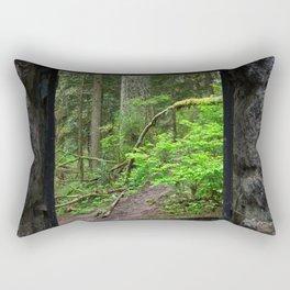 Stone House Window Rectangular Pillow