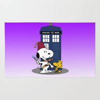 snoopy Area & Throw Rugs featuring Snoopy Who by plasticdoughnut