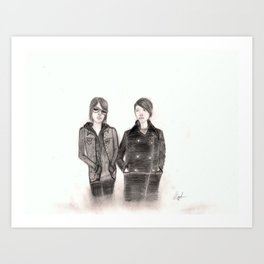 Portrait drawing of Tegan and Sara Art Print