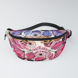 Pink and indigo flower pattern Fanny Pack