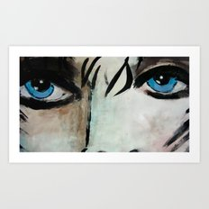 Woman with Blue Eyes  Art Print