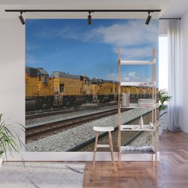 An Endless Row Of Union Pacific Diesel Engines Wall Mural