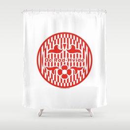 Denmark De Rød-Hvide (The Red-White) ~Group C~ Shower Curtain