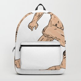 Hercules With Shield Going Forward Drawing Backpack