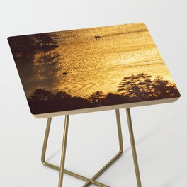 Golden Waters on Newfound Lake Side Table