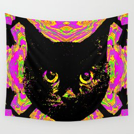 Purple Streak Quad Cat Wall Tapestry