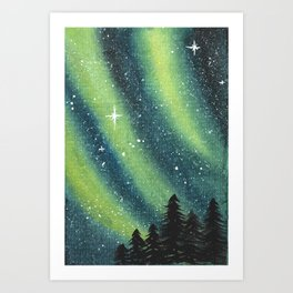 Nothern light Art Print