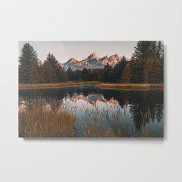 Grand Teton Solemn Sunrise Metal Print
