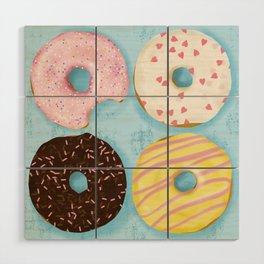 Yummy Donuts Wood Wall Art