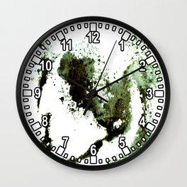 sponging ink Wall Clock