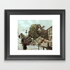 the collapse Framed Art Print