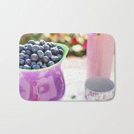 Blueberry Tea Partty Bath Mat