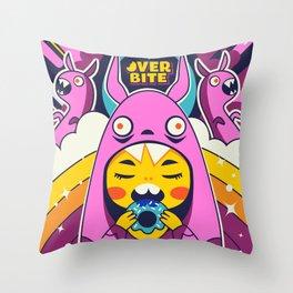 Overbite: Sour Bunny 1 Throw Pillow