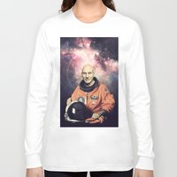 picard Long Sleeve T-shirts featuring Captain Picard - Astronaut in Space by Nicholas Redfunkovich