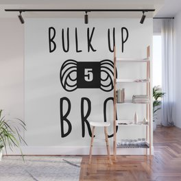 bulk up bro funny yarn knit crochet Wall Mural
