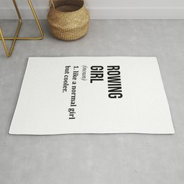 Rowing Girl Funny Quote Rug