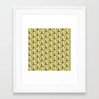 bass Framed Art Prints featuring Bass by SunnyNgo