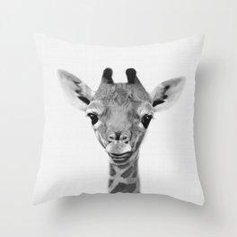 Giraffe Print, Safari Nursery Animal Wall Art Throw Pillow