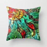 dream catcher Throw Pillows featuring Dream Catcher by BeachStudio