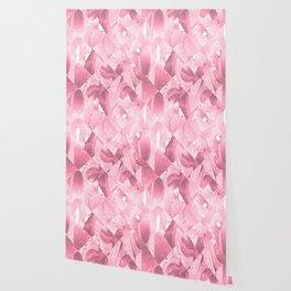 Pink Geometric Marble texture pattern Wallpaper