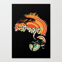 cheetah Canvas Prints featuring Cheetah by Dimitra Tzanos