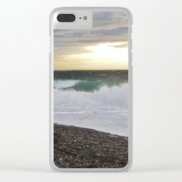 Stormy Day on the Salish Sea Clear iPhone Case