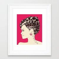 rihanna Framed Art Prints featuring Rihanna by Chris Moran
