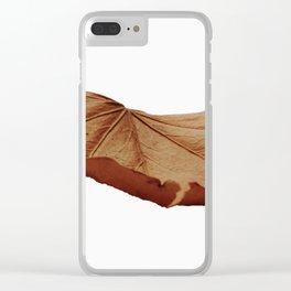 Singe Autmn Leaf Clear iPhone Case