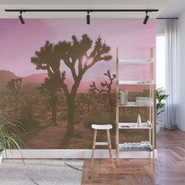 Rosy Haze In Joshua Tree Wall Mural