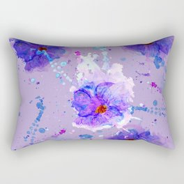 Violet Watercolor Flower Rectangular Pillow