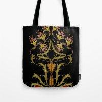 art nouveau Tote Bags featuring art nouveau by Ariadne