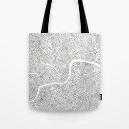 City Map London watercolor map Tote Bag